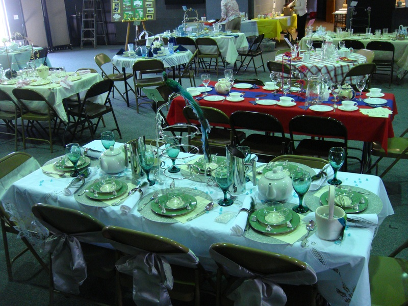Table setting at the tea party