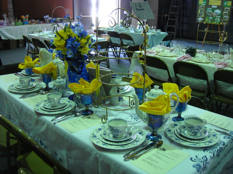 Another table setting at the tea party