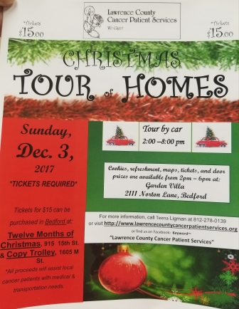 Flier for Christmas Tour of Home