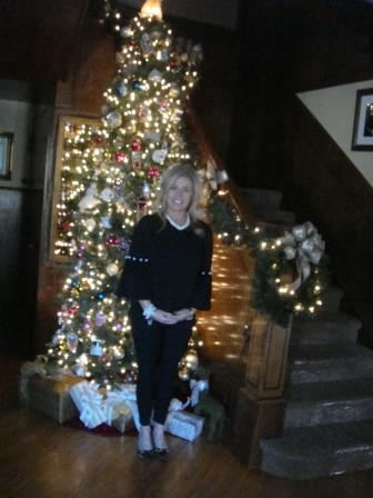 Tracey Williams and her foyer tree
