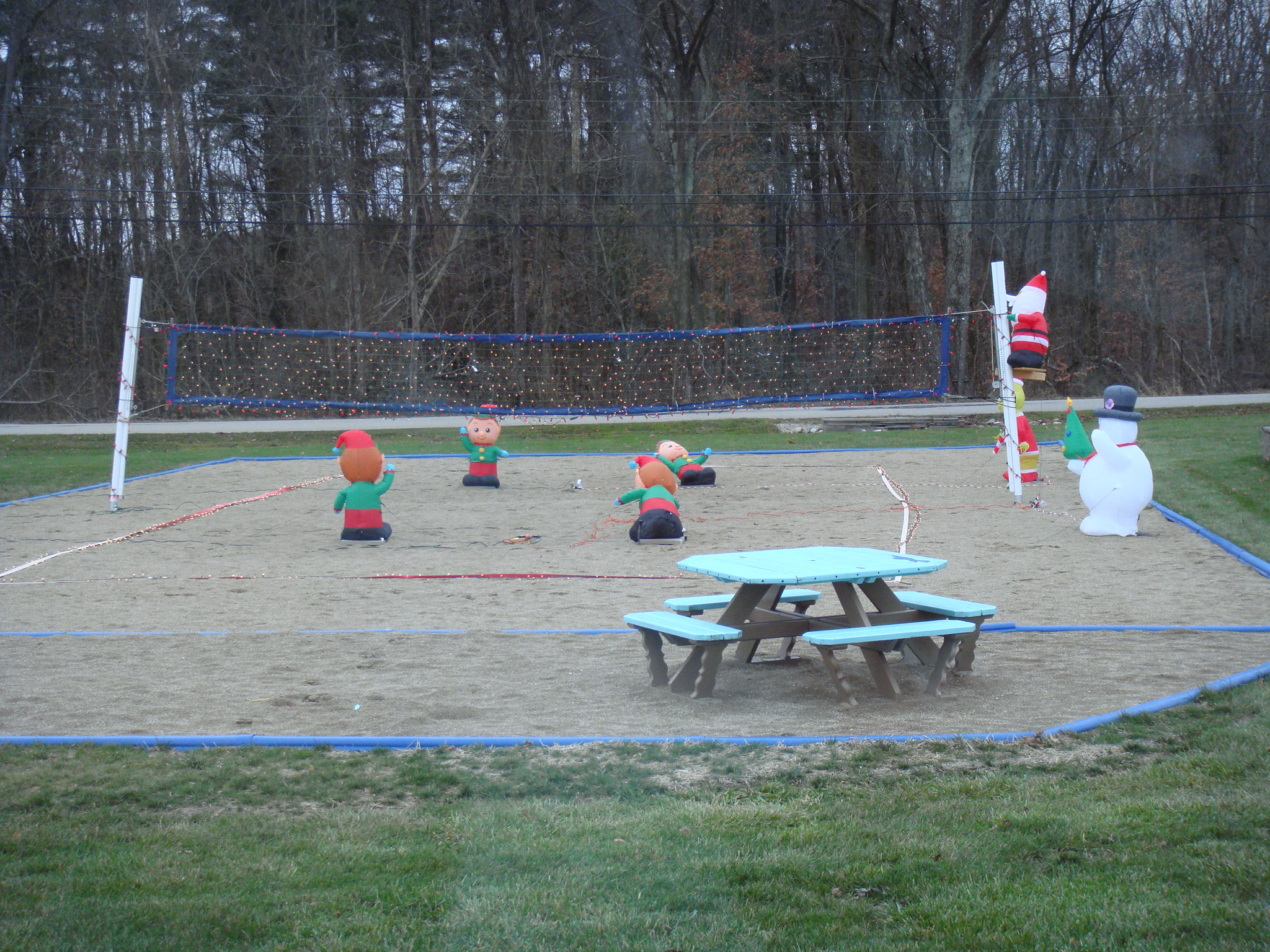 Saunder's Home Winter Volleyball Game
