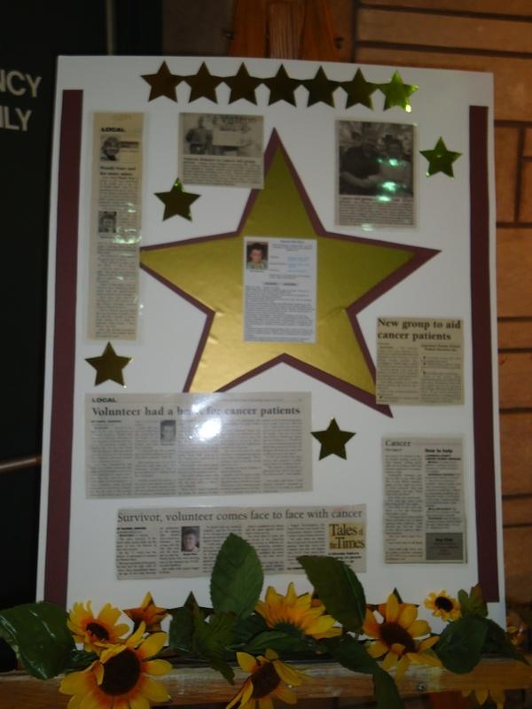 Display featuring Wanda's accomplishment